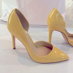 Jessica Simpson Light Yellow Kitten Heels